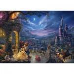 Puzzle  Schmidt-Spiele-59484 Thomas Kinkade - Disney, Die Schöne und das Biest