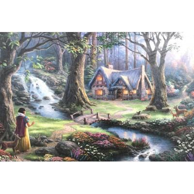 Puzzle  Schmidt-Spiele-59485 Thomas Kinkade - Disney, Schneewittchen