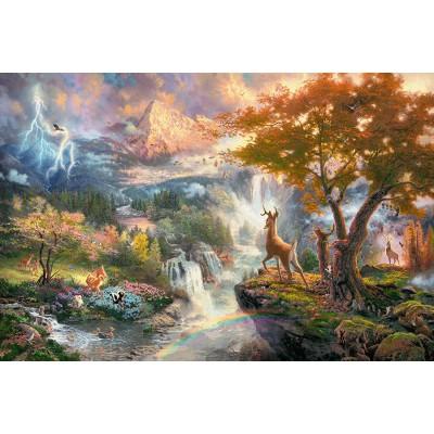 Puzzle  Schmidt-Spiele-59486 Thomas Kinkade - Disney, Bambi