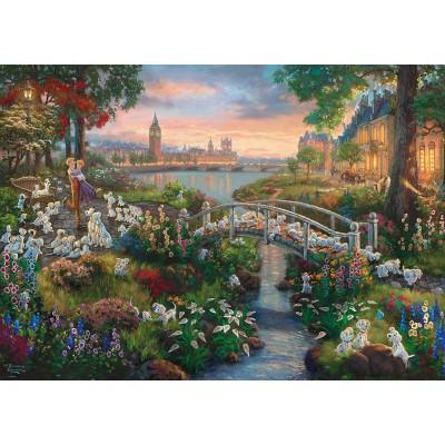 Puzzle  Schmidt-Spiele-59489 Thomas Kinkade, Disney, 101 Dalmatiner