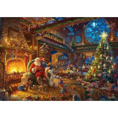 Puzzle  Schmidt-Spiele-59494 Thomas Kinkade - Santa Claus and His Secret Helper