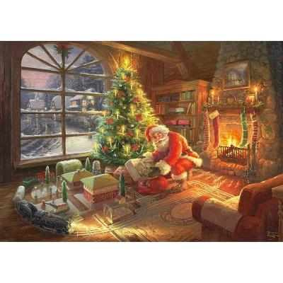 Puzzle  Schmidt-Spiele-59495 Thomas Kinkade - Der Weihnachtsmann ist da!