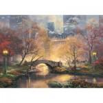 Puzzle  Schmidt-Spiele-59496 Thomas Kinkade - Central Park im Herbst