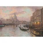 Puzzle  Schmidt-Spiele-59499 Thomas Kinkade - In den Straßen von Venedig