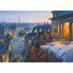 Puzzle  Schmidt-Spiele-59562 Evgeny Lushpin - Abend in Paris