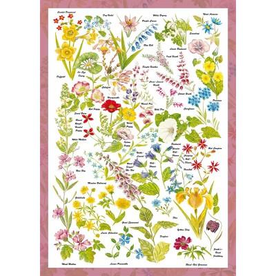 Puzzle  Schmidt-Spiele-59566 Countryside Art - Wildblumen
