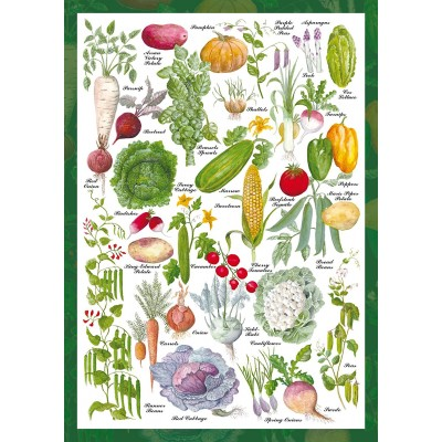 Puzzle  Schmidt-Spiele-59567 Countryside Art - Gemüsegarten