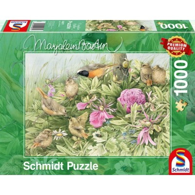 Puzzle  Schmidt-Spiele-59571 Festmahl auf der Wiese