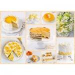 Puzzle  Schmidt-Spiele-59574 Strahlend gelbe Kaffeetafel
