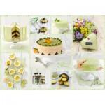 Puzzle  Schmidt-Spiele-59575 Frühlingsgrünes Kuchenbuffet