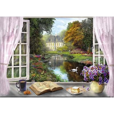 Puzzle  Schmidt-Spiele-59590 Dominic Davison - Blick in den Schloßgarten