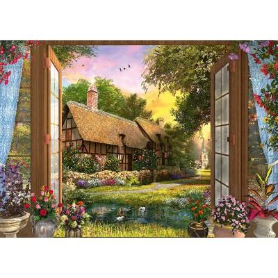 Puzzle  Schmidt-Spiele-59591 Dominic Davison - Blick auf Das Cottage