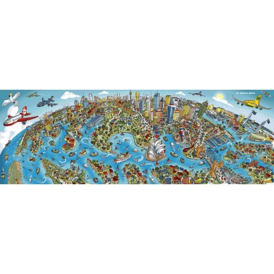 Puzzle  Schmidt-Spiele-59595 Stadtbild Sydney