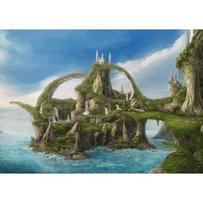 Puzzle  Schmidt-Spiele-59610 Insel der Wasserfälle