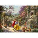 Puzzle  Schmidt-Spiele-59625 Thomas Kinkade, Disney, Schneewittchen - Tanz mit dem Prinzen