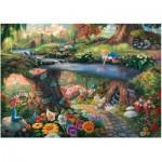 Puzzle  Schmidt-Spiele-59636 Thomas Kinkade - Disney - Alice im Wunderland