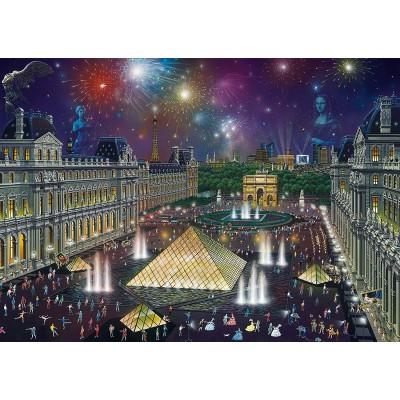 Puzzle  Schmidt-Spiele-59648 Alexander Chen, Feuerwerk am Louvre