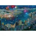 Puzzle  Schmidt-Spiele-59650 Alexander Chen - Feuerwerk über Hong Kong