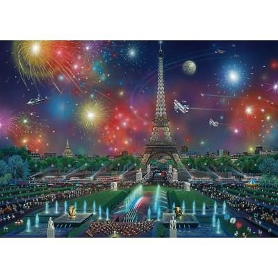 Puzzle  Schmidt-Spiele-59651 Alexander Chen, Feuerwerk am Eiffelturm