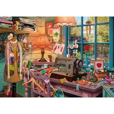 Puzzle  Schmidt-Spiele-59654 Nähzimmer