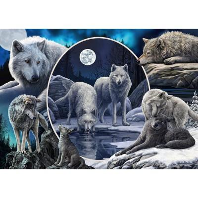 Puzzle  Schmidt-Spiele-59666 Lisa Parker - Prächtige Wölfe