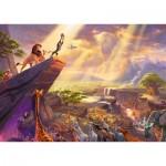 Puzzle  Schmidt-Spiele-59673 Thomas Kinkade - Disney - König der Löwen