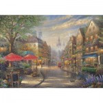 Puzzle  Schmidt-Spiele-59675 Thomas Kinkade, Cafe in München