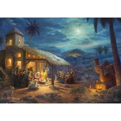 Puzzle  Schmidt-Spiele-59676 Thomas Kinkade, Spirit, Jesus Geburt