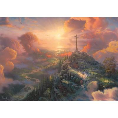 Puzzle  Schmidt-Spiele-59679 Thomas Kinkade - Spirit - Das Kreuz