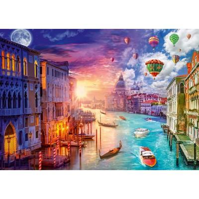 Puzzle  Schmidt-Spiele-59906 Lars Stewart - Venedig - Night and Day