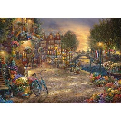 Puzzle  Schmidt-Spiele-59917 Thomas Kinkade - Amsterdam