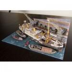 Puzzle  Schreiber-Bogen-3476 Kartonmodelbau: Hamburger Hafen-Diorama