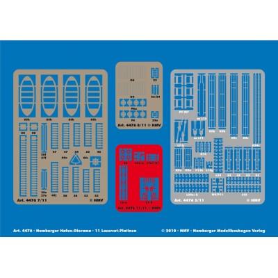 Puzzle Schreiber-Bogen-4476 Kartonmodelbau: Lasercutsatz Hafen-Diorama