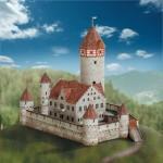 Puzzle  Schreiber-Bogen-612 Kartonmodelbau: Götzenburg Möckmühl