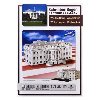 Puzzle  Schreiber-Bogen-613 Kartonmodelbau: Weißes Haus