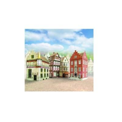 Schreiber-Bogen-651 Kartonmodelbau: Vier Altstadthäuser