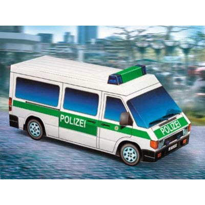 Schreiber-Bogen-654 Kartonmodelbau: Polizeiwagen