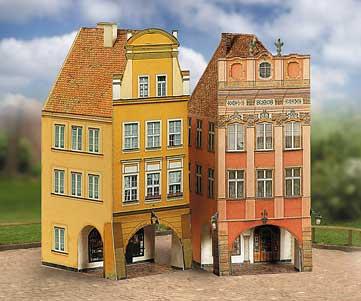 Puzzle  Schreiber-Bogen-660 Kartonmodelbau: Altstadt Set 4