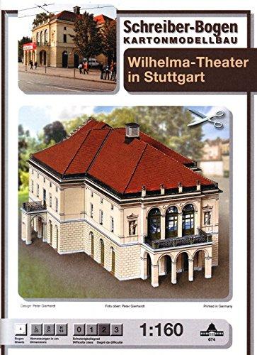 Puzzle  Schreiber-Bogen-674 Kartonmodelbau: Wilhelma-Theater Stuttgart
