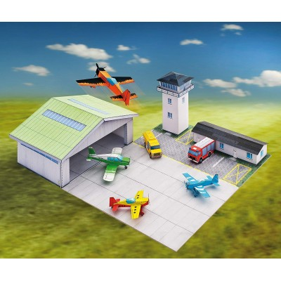 Puzzle  Schreiber-Bogen-708 Kartonmodelbau: Flugplatz
