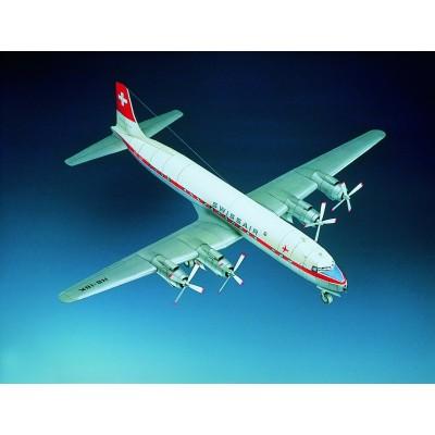 Puzzle Schreiber-Bogen-70933 Kartonmodelbau: Douglas DC-7C