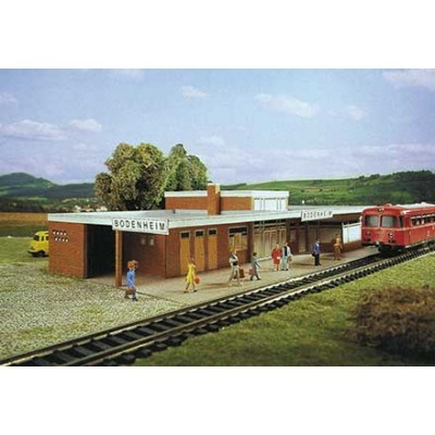 Puzzle Schreiber-Bogen-71403 Kartonmodelbau: Bahnhof Bodenheim