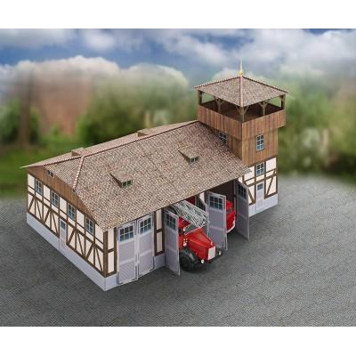 Puzzle  Schreiber-Bogen-717 Kartonmodelbau: Feuerwehrhaus