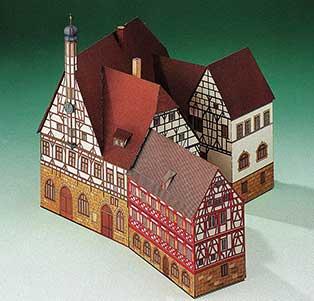 Puzzle  Schreiber-Bogen-72198 Kartonmodelbau: Rathaus Forchheim