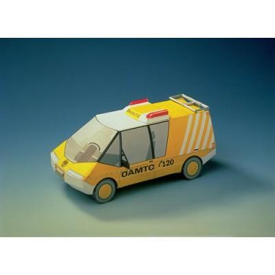Puzzle Schreiber-Bogen-72368 Kartonmodelbau: ÖAMTC- Pannenfahrzeug 2000