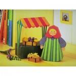 Puzzle  Schreiber-Bogen-72375 Kartonmodelbau: Marktfrau mit Verkaufsstand