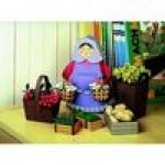 Puzzle  Schreiber-Bogen-72376 Kartonmodelbau: Marktfrau mit Körben