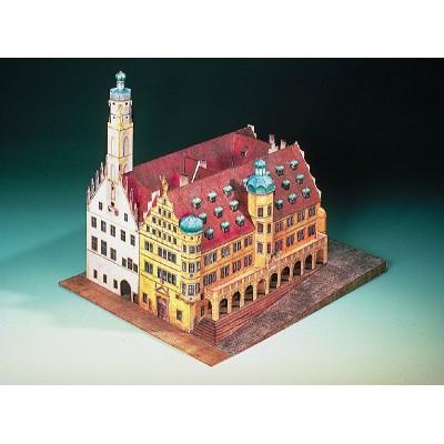 Puzzle Schreiber-Bogen-72432 Kartonmodelbau: Rathaus Rothenburg ob der Tauber
