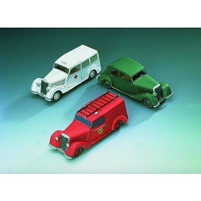 Puzzle Schreiber-Bogen-72442 Kartonmodelbau: Drei Mercedes-Benz 170V