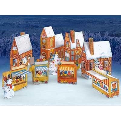 Puzzle  Schreiber-Bogen-752 Kartonmodelbau: Advent Calendar Village